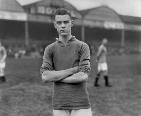 Reginald William Tricker (Arsenal) 1927 to 1929. 12 games (5 goals). Credit : Colorsport