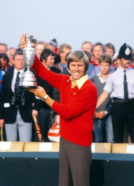 Golf - The Open Championship Bill Rogers (USA) Kisses the Open trophy.  British Open Golf Championships; Sandwich, Royal St George's, Kent  19/07/1981 Credit : Colorsport