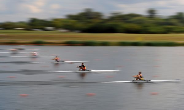 Rowing - World Junior Championships - Eton Dorney General view of competitors on the Eton Dorney 2012 Olympic rowing venue