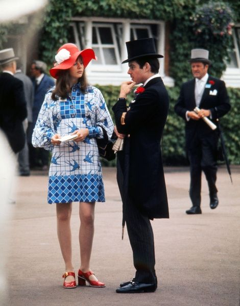 Royal Ascot, 1973.. Horse racing : Race goers at Ascot 21/06/1973 Credit: Colorsport