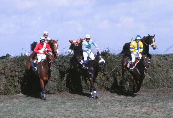 National Hunt Horse Racing - Aintree - The 1979 Grand National  Rubstic (centre) on his way to winning the race