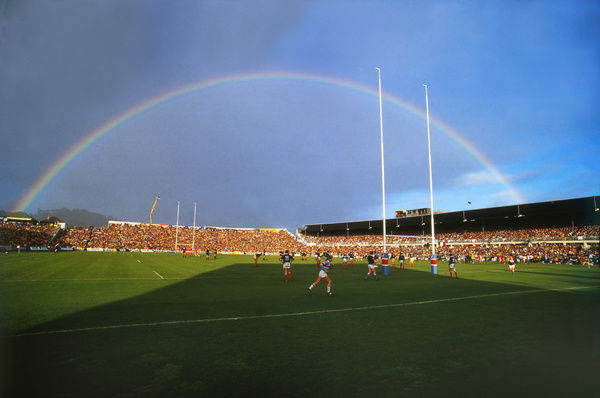 Rugby Union - 1987 World Cup - Final: New Zealand 29 France 9     A rainbow appears over the Eden Park ground just before kick-off.     20/06/1987