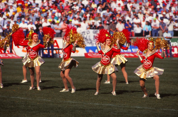 Rugby Union - 1992 All Black Tour of South Africa - South Africa 24 New Zealand 27     Cheerleaders perform before kick-off, at Ellis Park, Johannesburg