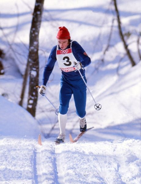 Cross Country Skiing - 1972 Sapporo Olympics - Men's 15km East Germany's Rainer Gross at the Makomanai Cross Country Events Site, Japan. 07/02/1972