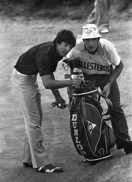 Golf - The Open Championship - Royal Birkdale 1976 Seve Ballesteros with his caddie