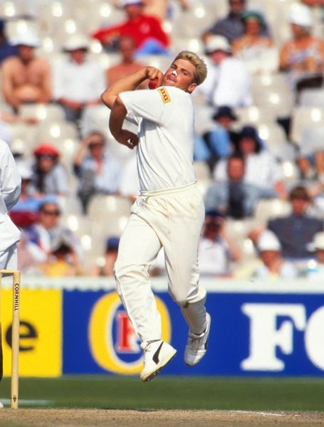 Cricket Shane Warne (Aus).  England v Australia 1993 1st test @ Old Trafford.  03 - 07/06/1993  Credit : Colorsport