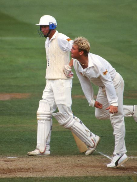 Shane Warne (Aus) with Mike Atherton (Eng).  England v Australia; 2nd Ashes Test @ Lords. 17/06/1993  Credit: Colorsport