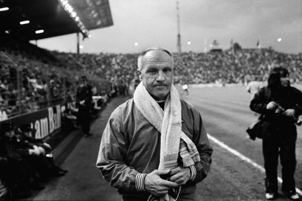 BILL SHANKLY, LIVERPOOL MANAGER.  UEFA CUP FINAL 1973 2nd leg, 23/05/1973  BORUSSIA MONCHENGLADBACH V LIVERPOOL.  CREDIT: COLORSPOT / Stewart Fraser