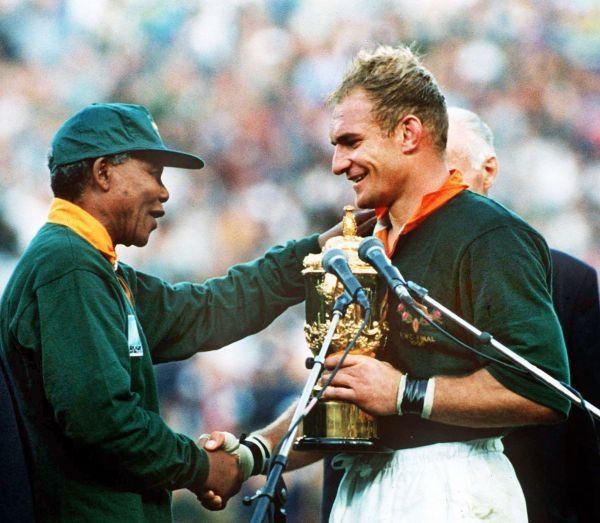 South Africa Captain Francois Pienaar Receives The World