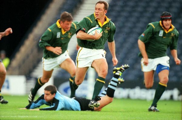 Brendan Venter (South Africa). South Africa v Uruguay. The Rugby World Cup 1999 Pool A. Hampden Park 15/10/99. Credit Colorsport