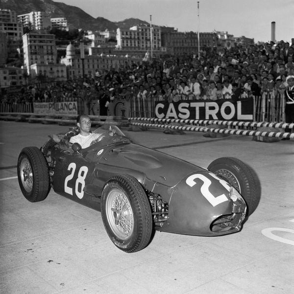 Motorsport - F1 Formula One - Monaco Grand Prix 1956 Stirling Moss winner of the race in his Maserati