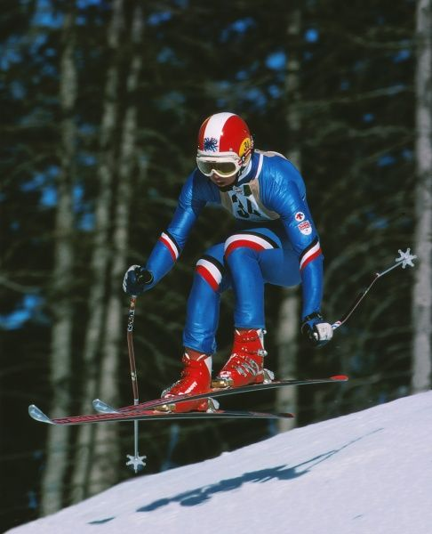 Alpine Skiing - 1976 Innsbruck Winter Olympics - Men's Downhill Great Britain's Stuart Fitzsimmons at Patscherkofel, Igls, Austria. He finished in 32nd place