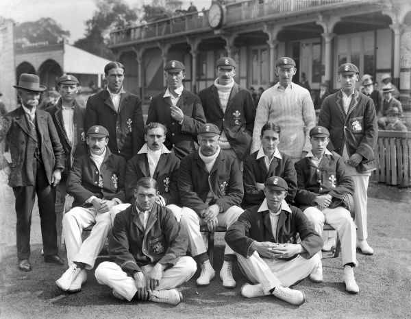 Cricket - 1914 County Championship - Warwickshire beat Surrey by 80 runs The Surrey team group that faced Warwickshire at Edgbaston on 27-29/08/14, the season they won their seventh County Championship title. Back (left to right): scorer, Herbert Strudwick