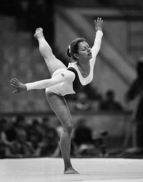 Suzanne Dando at the 1980 Moscow Olympics