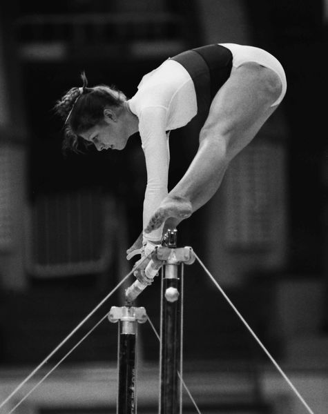 Gymnastics - 1980 Moscow Olympics - Women's Uneven Bars Great Britain's Suzanne Dando Womens during the uneven bars in the Palace of Sports, Central Lenin Stadium Area, Moscow, USSR