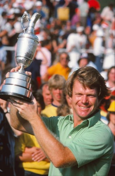 Golf - The Open Championship Tom Watson (USA) with the trophy. British Open Golf Championships 1977 @ Turnberry  09/07/1977 Credit : Colorsport