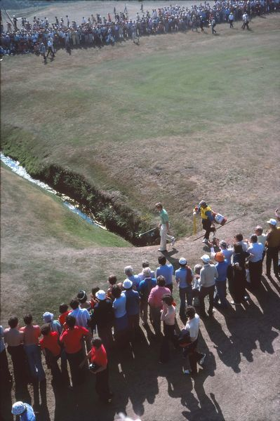 Golf - The Open Championship Tom Watson (USA) approaches the 16th green. British Open Golf Championships 1977 @ Turnberry  09/07/1977 Credit : Colorsport