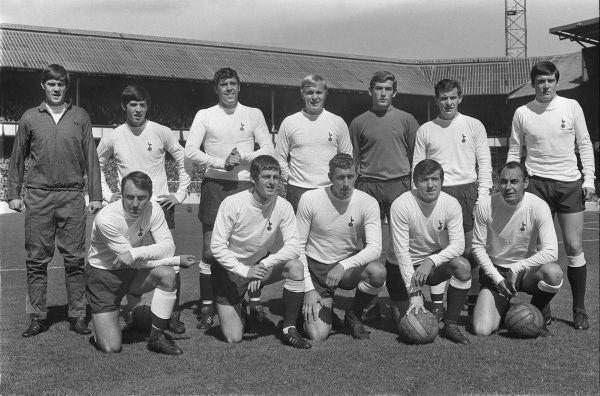 Football - 1968 / 1969 First Division - Everton 2 Tottenham Hotpsur 0 The Tottenham Hotspur team group before the game at Goodison Park on 17/8/68