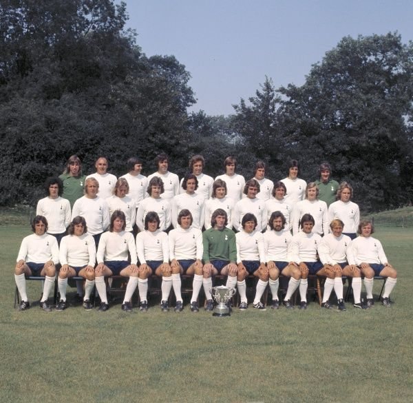 Football - Tottenham Hotspur Team Group Photocall Spurs Team Group with the 1973 League Cup trophy