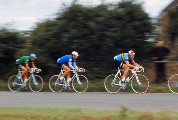 Road Cycling - 1970 UCI Road World Race Championships - Men's Professional Race     Belgium's Eddy Merckx (#21), at Mallory Park, Leicester. He finished in 29th place.     16/08/1970