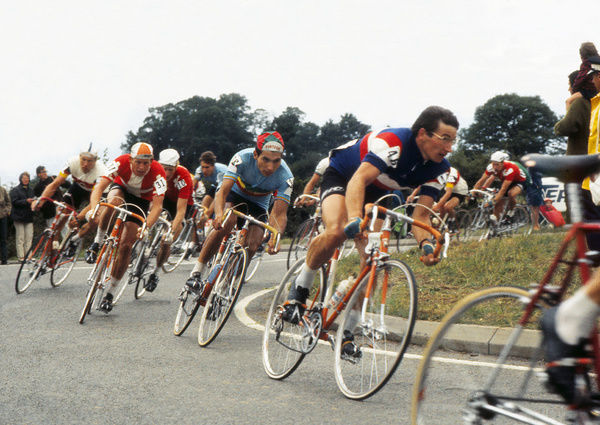 Road Cycling - 1970 UCI Road World Race Championships - Men's Professional Race     Pictured are Denmark's Leif Mortensen (#31), Portugal's Jose Machado Pereira (#88), France's Berland Roland (#46), at Mallory Park, Leicester