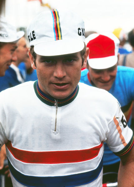 Road Cycling - 1970 UCI Road World Race Championships - Men's Professional Race     Defending champion, Holland's Harmen 'Harm' Ottenbros before the start at Mallory Park, Leicester