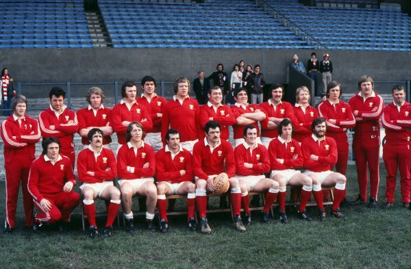 Rugby Union - 1976 Five Nations Championship - Wales 19 France 13 Wales Team Group, Cardiff Arms Park Back Row (left to right): John Bevan, Franklin Knill, Graham Price, Trevor Pryce Evans, Allan Martin, Geoff Wheel, Charlie Faulkner, Bobby Windsor