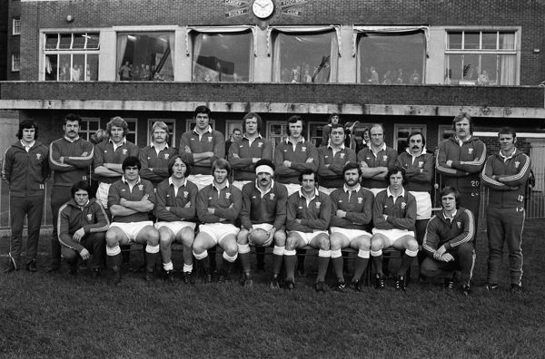 The Wales team that defeated Australia in Cardiff in 1975