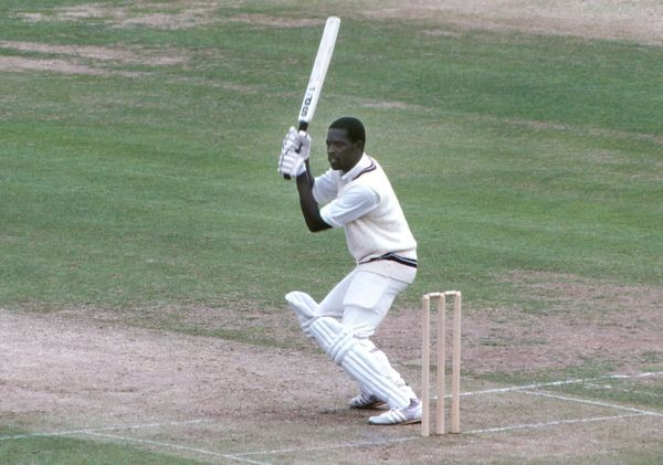 Cricket - 1979 Prudential World Cup - Final: West Indies bt England 92 runs   West Indies' Collis King bats at Lord. He scored 86 runs off 66 balls. 23/06/1979