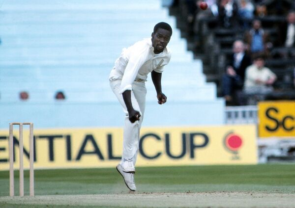 Cricket - 1979 Prudential World Cup - Final: West Indies bt England 92 runs West Indies' Collis King bowls at Lord. 23/06/1979