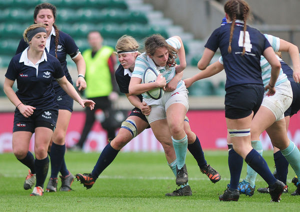 Rugby Union - 2015 Women's Varsity Match - Oxford University Women vs. Cambridge University Women    Captain, Nikki Weckman of Cambridge at Twickenham.    COLORSPORT/ANDREW COWIE