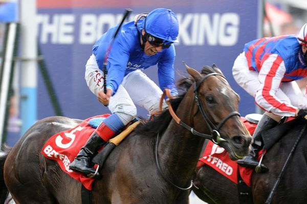 Horse Racing - Yorkshire Ebor Festival - The Betfred Ebor Willing Foe ridden by Frankie Dettori wins the race at York race course
