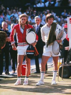 1977 Wimbledon Finalists Bjorn Borg and Jimmy Connors