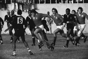 Andy Ripley on the charge for the British Lions against the Leopards in 1974