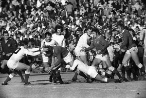 Andy Ripley scores for the British Lions in 1974