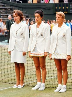 Angela Mortimer, Virginia Wade, Ann Haydon-Jones - 1970 Wightman Cup