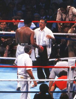 Angelo Dundee congratulates Muhammad Ali after 'The Greatest' wins the World
