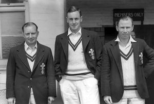 Arthur McIntyre, Peter May, David Fletcher - Surrey C.C.C.