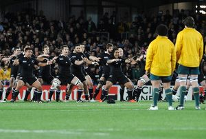 Australia face the Haka at the 2011 Rugby World Cup