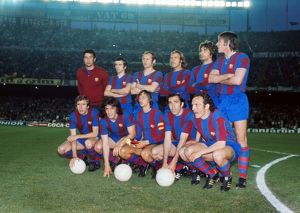 Barcelona during the 1975 European Cup