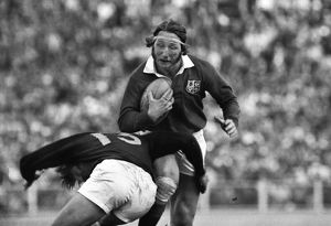 A bloodied JPR Williams of the British Lions
