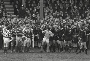 Bridgend prepare to scrum down against the All Blacks in 1978