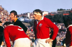 British Lions captain Willie John McBride during the Third Test against South Africa
