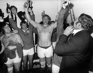 The British Lions celebrate after winning the series against South Africa in 1974