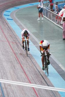 Chris Boardman captures Jens Lehmann - 1992 Barcelona Olympics - Men's Cycling