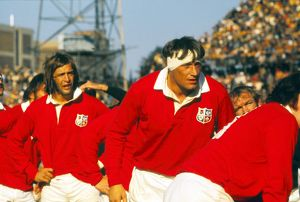 Chris Ralston and Willie John McBride during the fourth test between the Lions