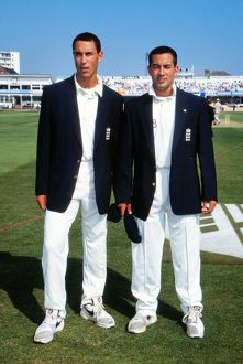Cricket - Fifth Ashes Test - England v Australia 1997 Brothers Ben (left) and Adam