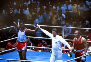 Cuba's Teofilo Stevenson wins gold at the 1980 Olympics