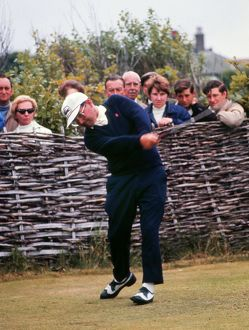 Dai Rees tees-off at the 1969 Open Championship