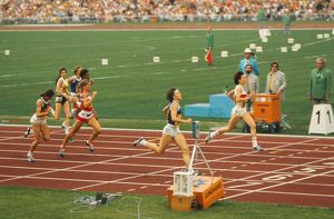 East Germany's Monika Zehrt wins 400m gold at the 1972 Munich Olympics